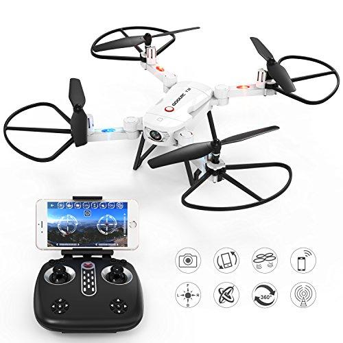 RC Quadricottero Drone con Camera-GoolRC T32 Wifi FPV 2.4Ghz 4CH RC Quadricottero Pieghevole Drone...
