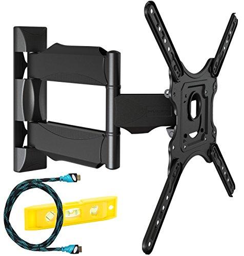 Invision Supporto TV - Ultra Sottile Supporto da parete per TV LED, LCD, HDR 4K 24 - 55 Pollici -...
