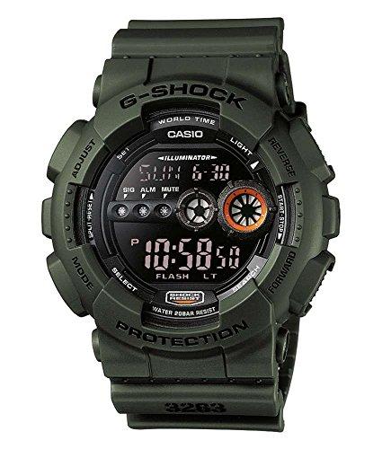 Casio G-Shock GD-100MS-3ER, Orologio da polso Uomo, Nero (Nero/Verde)
