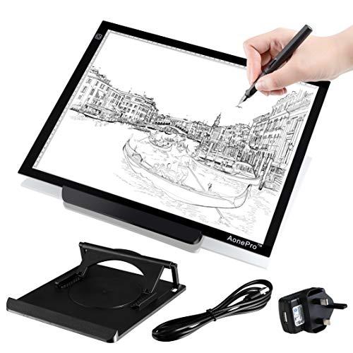 AonePro A3 LED Tracing Light box alimentazione USB ultra-sottile 48,3 cm disegno Light Pad per...