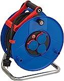 Brennenstuhl Garant IP44 Gewerbe-/Baustellen-Kabeltrommel (40m - Spezialkunststoff, Baustelleneinsatz und ständiger Einsatz im Außenbereich, Made In Germany) blau