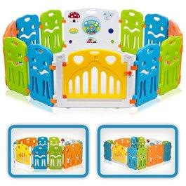 Baby Vivo Box per Bambini Sicurezza Barriera Pieghevole Cancelletto Recinto Plastica Estensibile – Colors