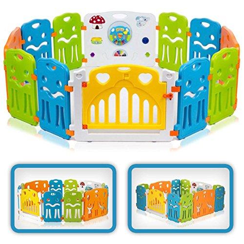 Baby Vivo Box per Bambini Grande Sicurezza Barriera Pieghevole Cancelletto Recinto con Porta...