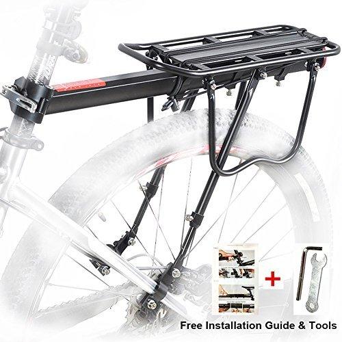 Portapacchi Bici, Bicicletta Posteriore Rack in Alluminio Ciclismo Reggisella Rack Mountain Bike MTB...