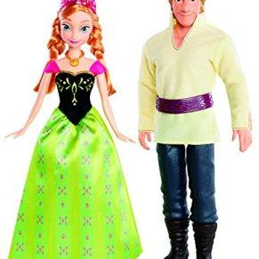 Disney Frozen - Muñecas, Anna y Kristoff (Mattel BDK35)