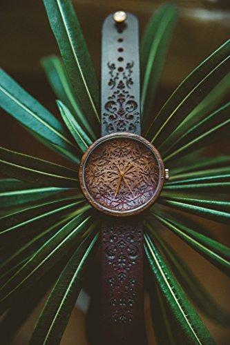 Orologio in legno Mandala King da Ovi Watch | Prodotti con segno Mandala | Orologi Svizzeri | Regalo...