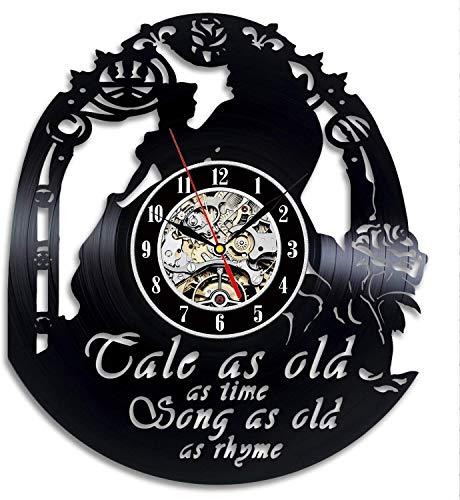 Orologio da Parete in Vinile Nozze Creativo Tema Camera Regali di Natale