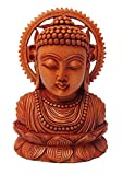 RUPASA 100% Fabricado Arte–hölzerne Serene Buddha Figura con aufwendigen Detalles
