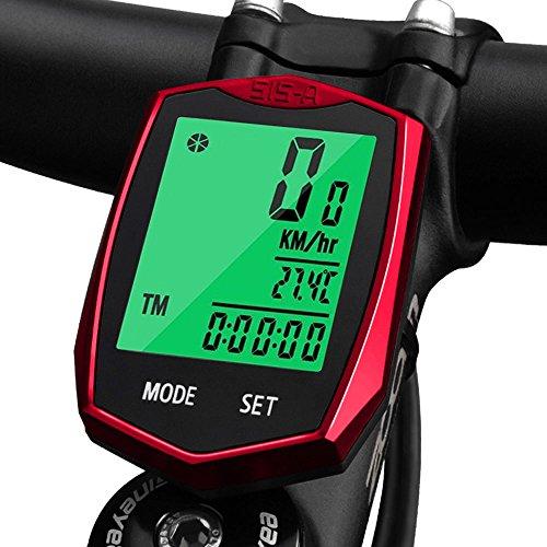 KOROSTRO Computer da Bicicletta, Wireless Tachimetro Bicicletta Impermeabile Display LCD...