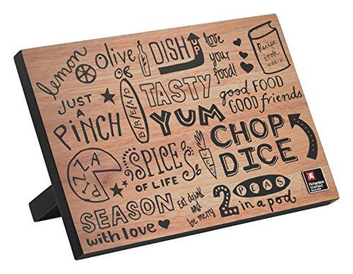 Richardson Sheffield Doodle magnetischer Messerblock, Holz, schwarz, 22.2 x 13.5 x 31.5 cm