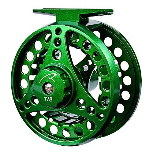 LSHEL Alluminio Mosca Mulinello Die Full Metal Casting CNC Sinistra/Destra Mano Mosca Bobine di Pesca 3/4,Verde