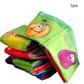 Ogquaton Libro Blando Libros de Aprendizaje Libros de Tela Actividad Tela de Arrugas Libro para bebés Educación temprana Regalo Inteligencia Desarrollo Aleatorio
