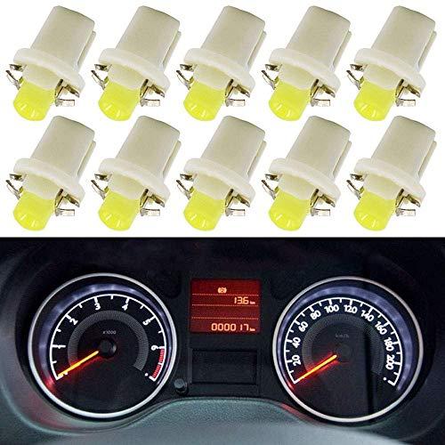 10 Pezzi Lampade LED T5 B8.5D Per Cruscotto Quadro Strumenti COB BIANCO Lampadine Luci 12V