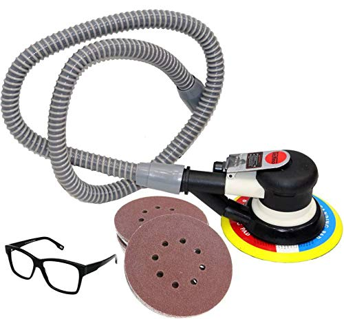 Digital Craft Random Air Pneumatic Orbital Sander Tools with Vacuum (6 Inch, 150 mm, Multicolour)