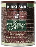 Kirkland Signature - Café 100% Colombiano tostado molido de grano supremo. 100% Colombian Filter Coffee Supremo Bean Dark Roast Fine Grind 1.36kg