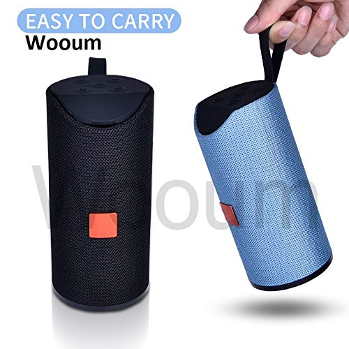 Wooum® Bluetooth Speaker Portable Outdoor Loudspeaker Wireless Speaker Mini Column 3D 10W Stereo Music Surround Bass Box Support Aux, Memory Card 1260