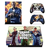 CIVIQ Grand Theft Auto V GTA 5 Skin Sticker für Microsoft Xbox One X Konsole und 2 Controller für Xbox One X Skin Vinyl