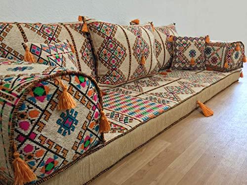 Seduta Orientale Tradizionale, Gruppo di sedili orientali, Cuscini da Yoga, Divano Orientale,...
