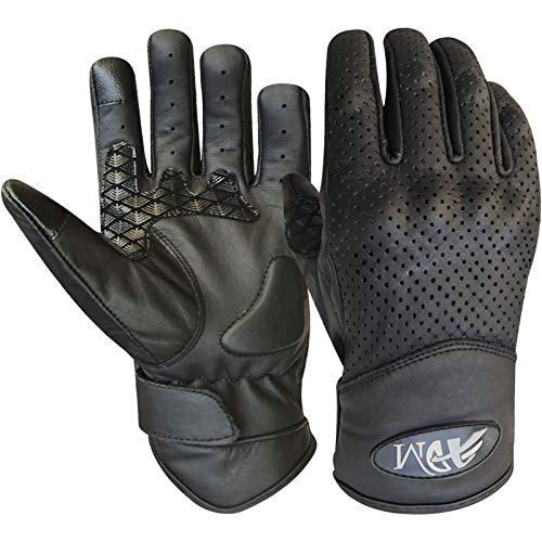 Prime Leather Guanti Touchscreen in vera pelle Nappa,Quad (ATV), Guanti da corsa,Guanti...