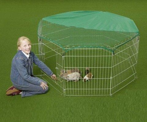 VivaPet Slim Hot großer verzinkter Auslaufgehege Auslaufstall für Hasen, Kaninchen, Enten, Hühner inkl. Sich