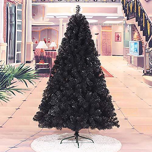 MTree 6ft 180cm Artificiale Natale Albero Completo, Vacanza Decorazioni per Natale Home Partito Decortazione in Miniatura Albero-Nero 180cm/6ft