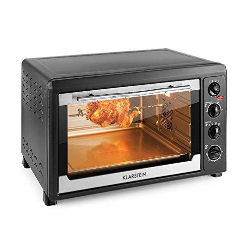 Klarstein Masterchef 60 • mini forno • griglia con funzione di spiedo girevole • volume 60...