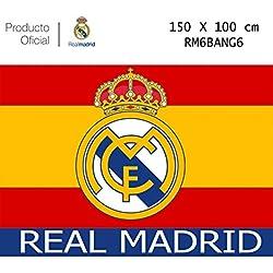 Producto Oficial Real Madrid Bandera del Real Madrid -Incluye Tatuajes(Colores De España 150x100CM)