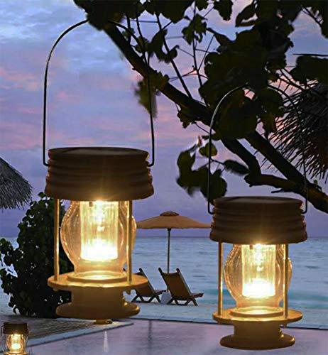 Obell solare lanterne 2confezione da giardino lampada LED vintage luci solari da appendere con...