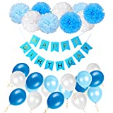 Die Geburtstagsdekoration ist lustig und romantisch und schafft eine fröhliche Atmosphäre für Ihre Party. Sie können sie an der Decke hängen, an den Wänden und am Fenster montiert oder als Tischdekoration verwendet werden. Perfekte Dekoration für Mä...