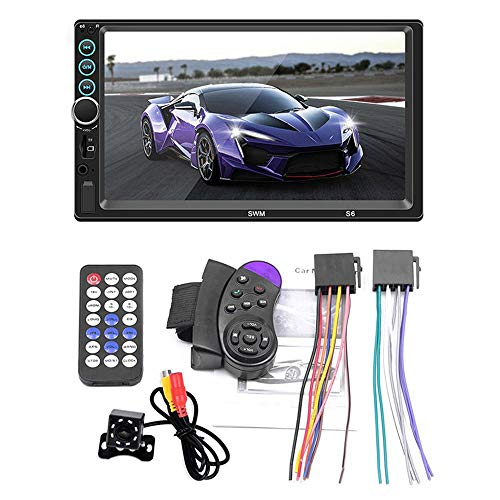 Vuffuw 2 Din Car Radio in Dash 7 Inch Touch Screen Car Stereo DVD Player Built-in BT, USB Port, SD, AUX Input, AM/FM Steering Wheel Control, Rearview Camera, Remote Control
