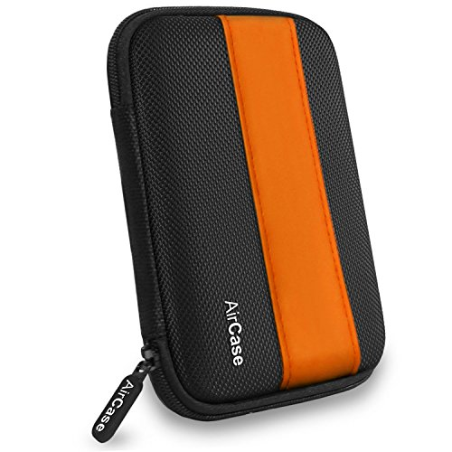 AirCase 2.5 Inch External Hard Disk Case, Cover, Pouch, HDD Pocket [ORANGE-BLACK]