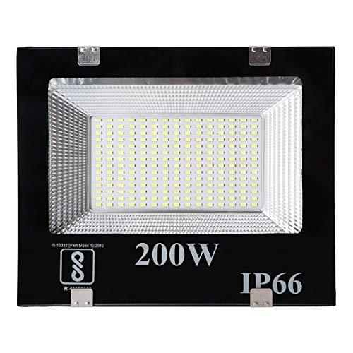 Gesto 200 Watt Ultra Thin Slim Ip66 LED Flood Outdoor Light Cool White Waterproof- 200W,Pack of 1