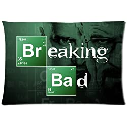 Breaking Bad Walter White Bryan Cranston Custom Design Pillowcase Pillow Sham Queen Size Pillow Cushion Case Cover Two Sides Printed 20x36 Inches