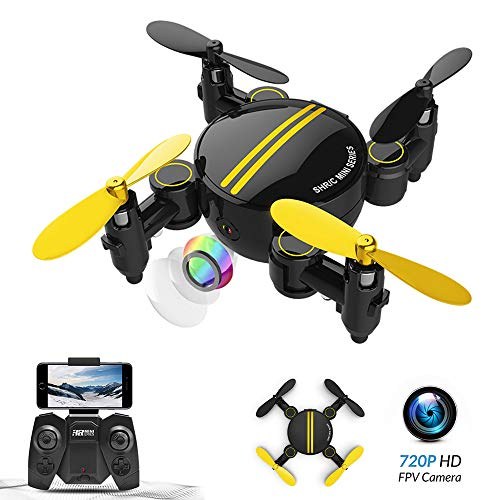 Mini drone pieghevole, WiFi FPV 720P con videocamera HD APP controllo , RC drone tascabile RTF...