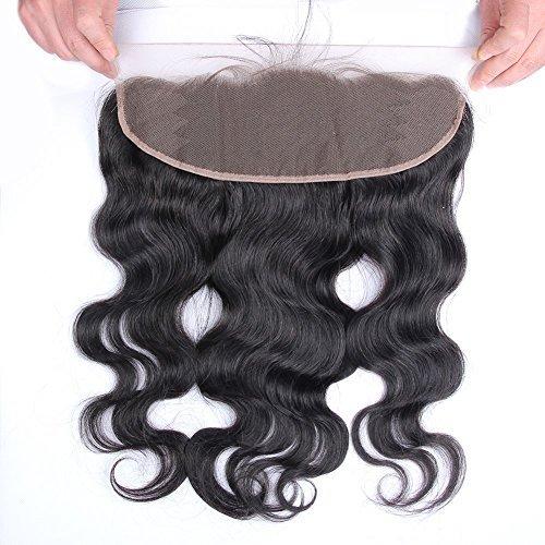 Beata Hair Brazilian Virgin Hair Body Wave 13x4 Lace Frontal Closure 08 inch Free Part Bleached Knots Baby Hair Full Lace Frontal Piece by Beata Hair