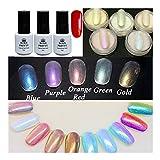Nacido Pretty 9pcs/set de sirena gradiente Nail Glitter polvos Pretty Shimmer polvo tóner rojo UV Gel Kit