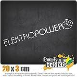 Kiwistar Elektropower 10 x 10 cm IN 15 Farben - Neon + Chrom! Sticker Aufkleber