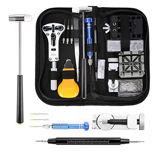 MoEvert Kit Riparazione Orologi Professionale 183 Pezzi Orologi Strumenti kit Portable Tool kit...