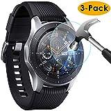 KIMILAR Pantalla Compatible con Samsung Galaxy Watch 46mm / Gear S3 Protector Pantalla, [3 Paquetes] Templado Vidrio para Galaxy Watch 46mm & Gear S3 Frontier/Classic - 9H Dureza Anti-rasguñe