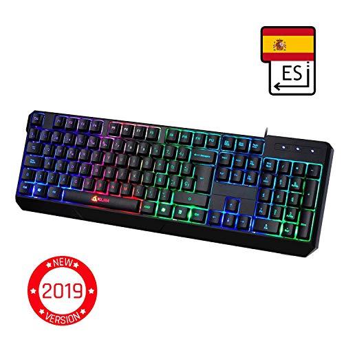 KLIM Chroma - Teclado Gaming en ESPAÑOL - USB - Alto rendimiento - Teclado...