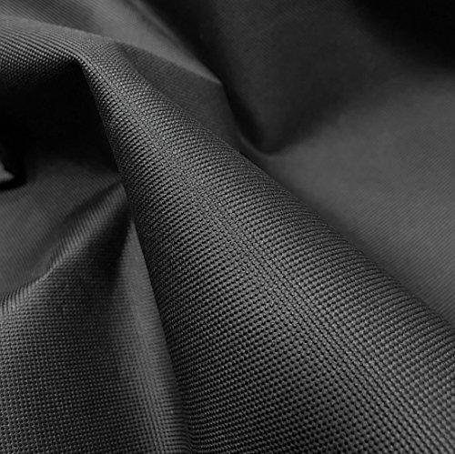A-Express - Copertura per l'esterno, in tessuto di tela impermeabile, a 600D, spessa e resistente, da 652g, venduta al metro, Nero , 1 Metre (100cm x 150cm)