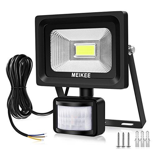 MEIKEE Faretto con Sensore di Movimento 20W,2000LM Faretto Proiettore LED Esterni/Interni,IP65...