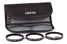 Hoya Close-up Kit - Juego de filtros para macro fotografía (+1, 2, 4, 55 mm) color negro