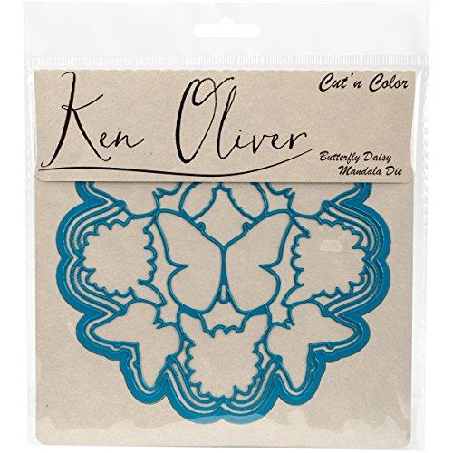 Ken Oliver corte 'n' Color mariposa flores mandala Die, acrílico, multicolor