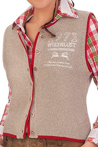 Damen Trachten Strickweste - BETTI - natur, braun, Größe 38 -