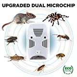 Gopendra Electronic Home Pest & Rodent Repelling Aid for Mosquito, Cockroaches, Ants Spider Insect Pest Control Electric Pest Repelling Aid Magnetic Ultrasonic Indoor Rat Sensor