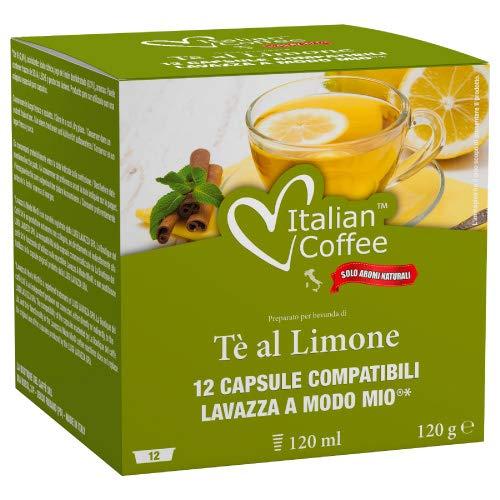 96 capsule Italian Coffee Te al Limone compatibili Lavazza A Modo Mio (8sc*12cps)