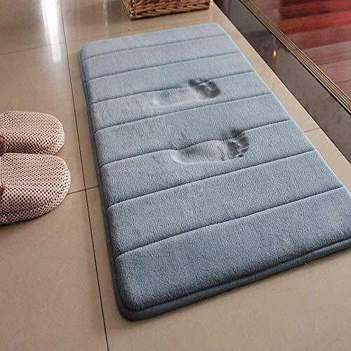 LiGG - Tappetino da bagno antiscivolo, assorbente 30 x 50 cm grigio