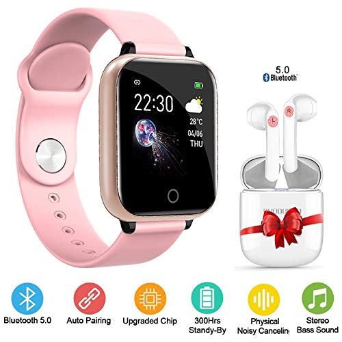 Smartwatch per Donna Uomo Orologio Fitness Smart Watch con Auricolare Bluetooth Fitness Tracker attività Impermeabile IP67 con Cardiofrequenzimetro Pedometro Notifiche per Cellulare Android iOS