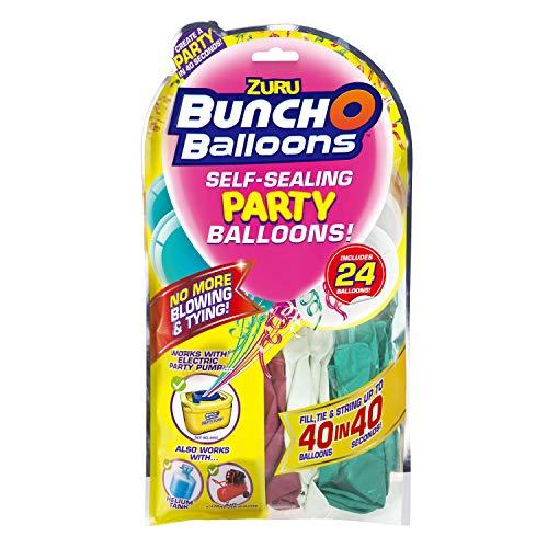 Zuru 51679 - Bunch O Balloons Party, 40 Palloncini in 40 Secondi, Refill Pack con 24 Palloncini e Adattatore, 3 Colori Assortiti, Nessuna Scelta Possibile.